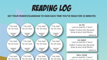 click to download a copy of reading log