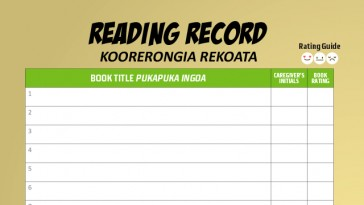 click to download reading record